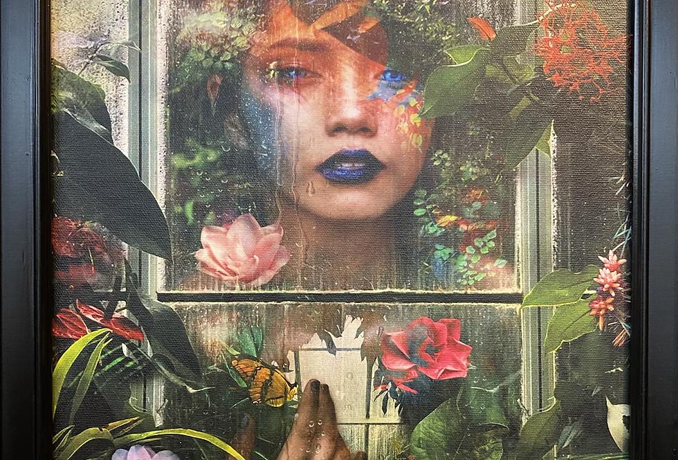 """""""Greenhouse Girl"""" Vintage frame"""