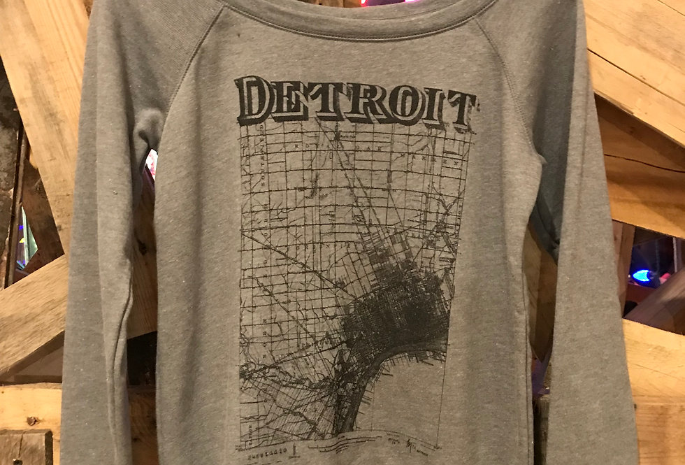 Detroit Map Woman's Sweater