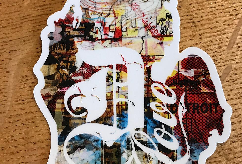 D Love Sticker