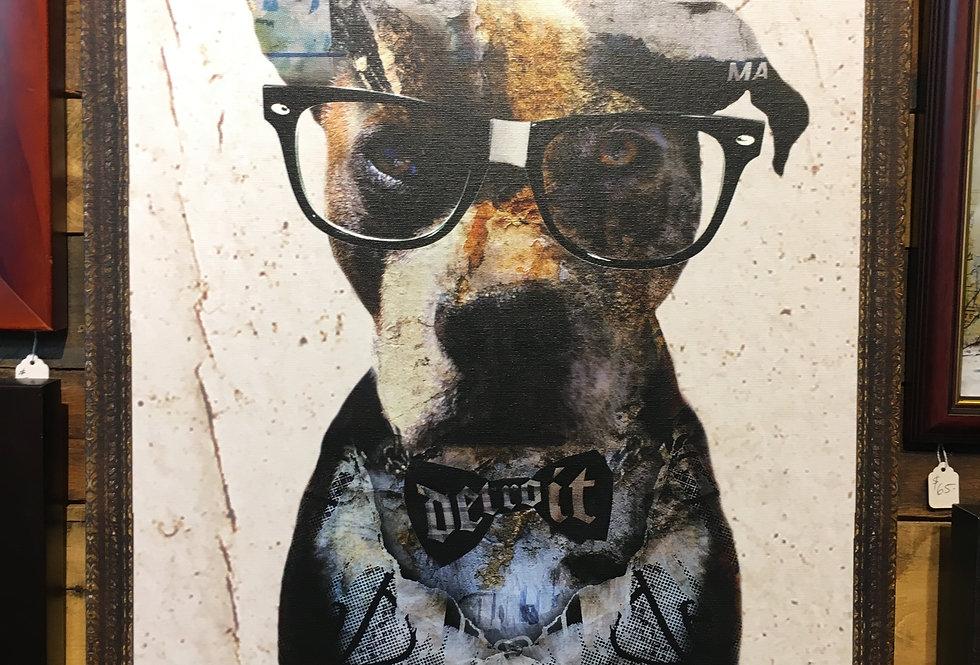 """Detroit Nerd"" Canvas"