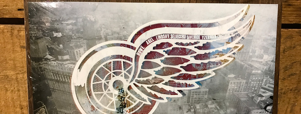 """""""Stanley Cup Champs"""" wood-paneled canvas"""