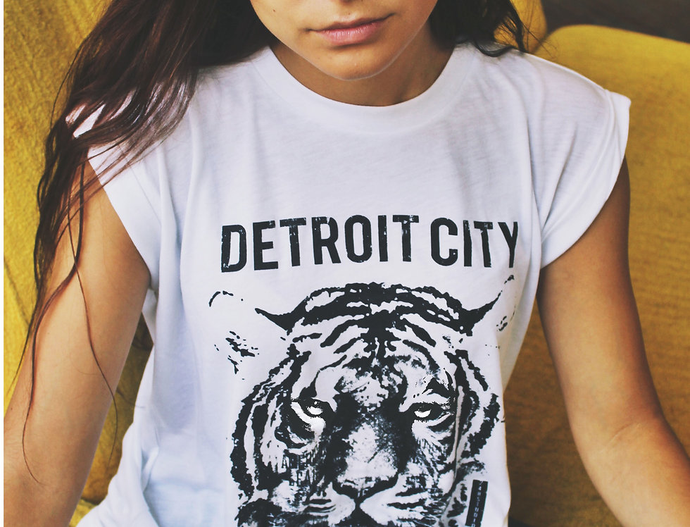 """Detroit City Baseball Club"" Rolled Sleeve Muscle Tee"