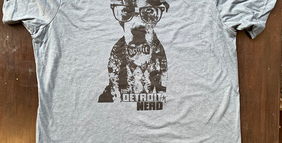 Detroit Nerd unisex in slate.