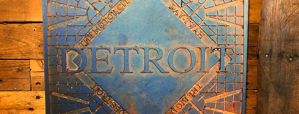 Detroit Grate Canvas