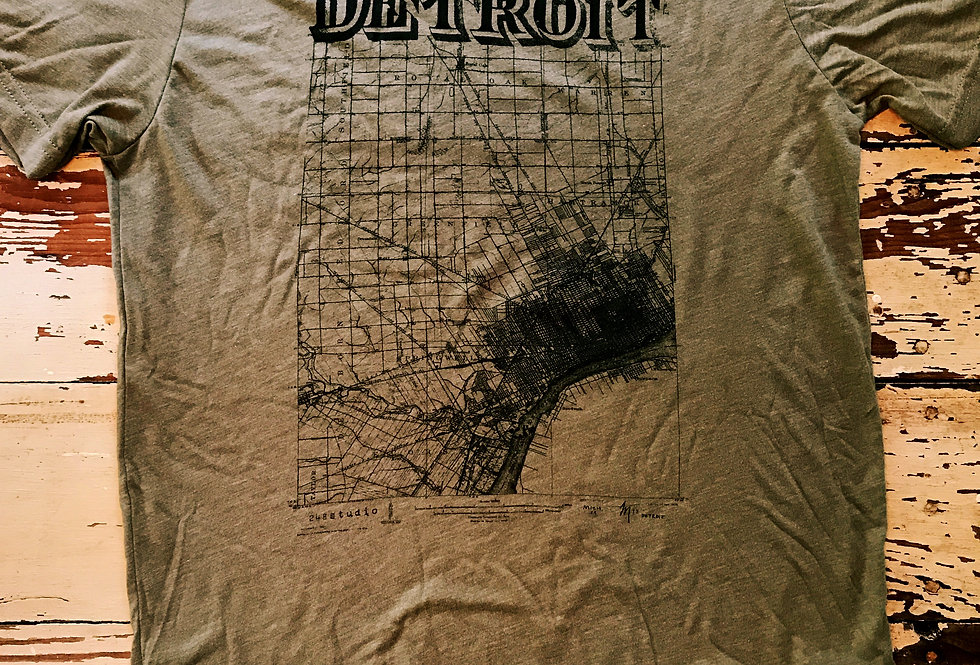 Detroit Map Tee