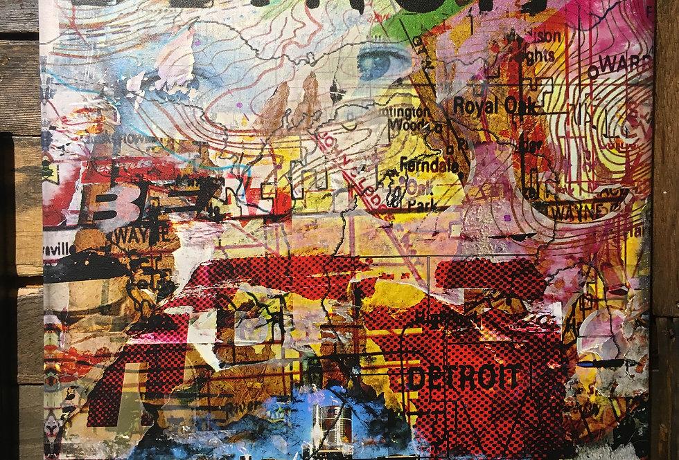 """City Map"" Canvas"