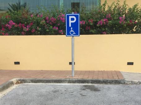 E berdat di Invalide Parkeerkaart na Korsou