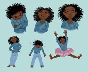 Character illustration little girl