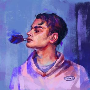 Boy who smokes