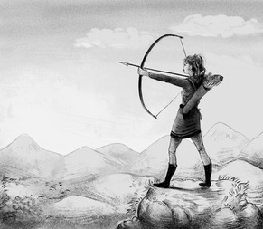 Fighter with bow and arrow