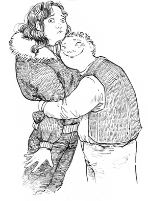 Bruno hugs Marlene