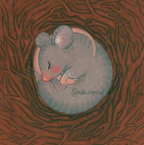Sleepy mouse