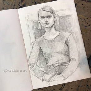 life drawing of a sitting girl