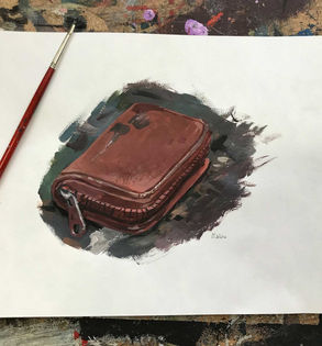 Acrylic painting of my wallet