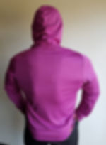 LONG SLEEVE HOODED T-SHIRT violet b smal