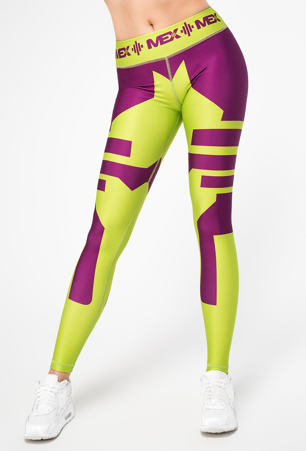 MEX Muscle Excellence | U CAN! | MEX Women's Leggings Fit Girl Lime