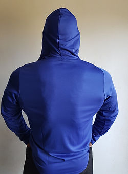 LONG SLEEVE HOODED T-SHIRT blue b small.