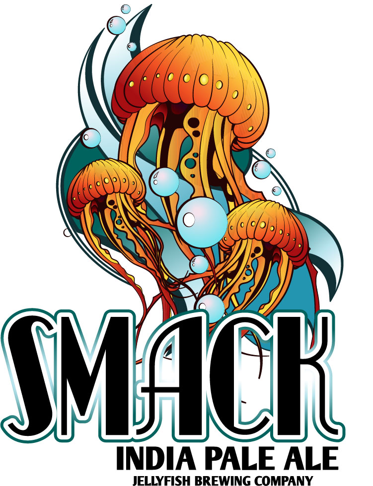 Jellyfish Brewery Smack Beer Label