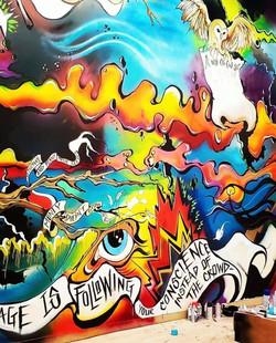 Dark Matter Mural - WIP