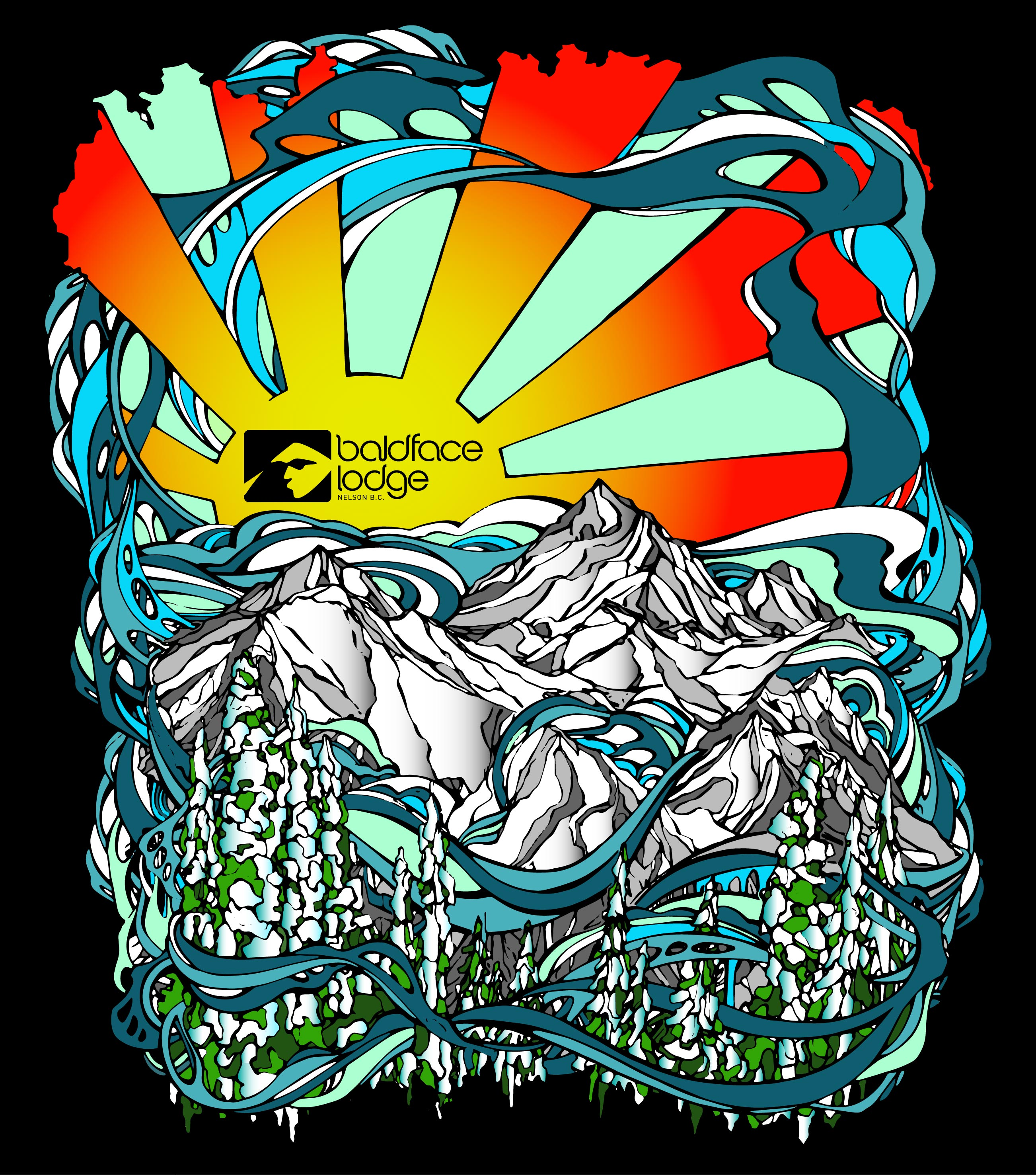 Baldface Lodge Print Ad / Artwork
