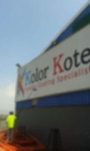 Signage Cleaning Durban, kolor kote sign