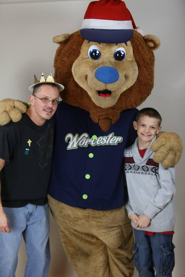 Lion with Ricky and Jayden
