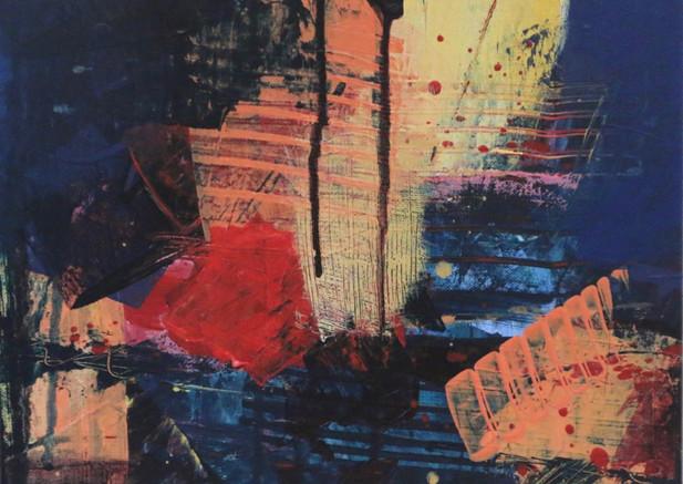 Untitled 11x11AcrylicsOilPastel on canva