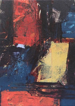Untitled, 12_x12_ Acrylics oil pastel sa