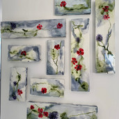 Flowers on marble
