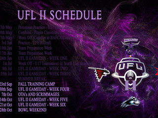SEASON SCHEDULE UPDATE
