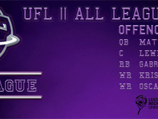 UFL II ALL LEAGUE TEAM ANNOUNCED