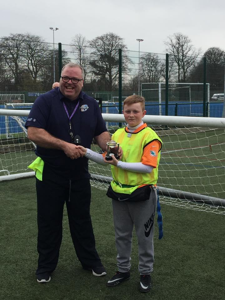 Owen Yarwood With The UFL Trophy