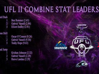 UFL II COMBINE STAT LEADERS