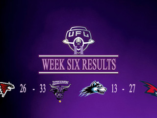 WEEK SIX - FINAL WEEK OF REGULAR SEASON RESULTS & SCORERS
