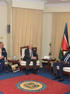 Gainful Solutions with the President of South Sudan, Salva Kiir Mayardit.