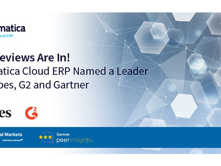 The Reviews Are In! Acumatica Cloud ERP Named a Leader in Forbes, G2 and Gartner