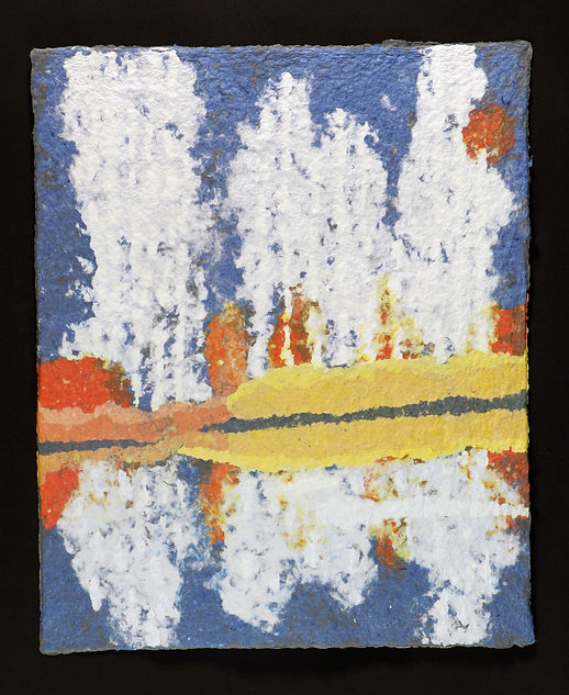 Jean Blue Sea 8 - Birch Trees abstracted