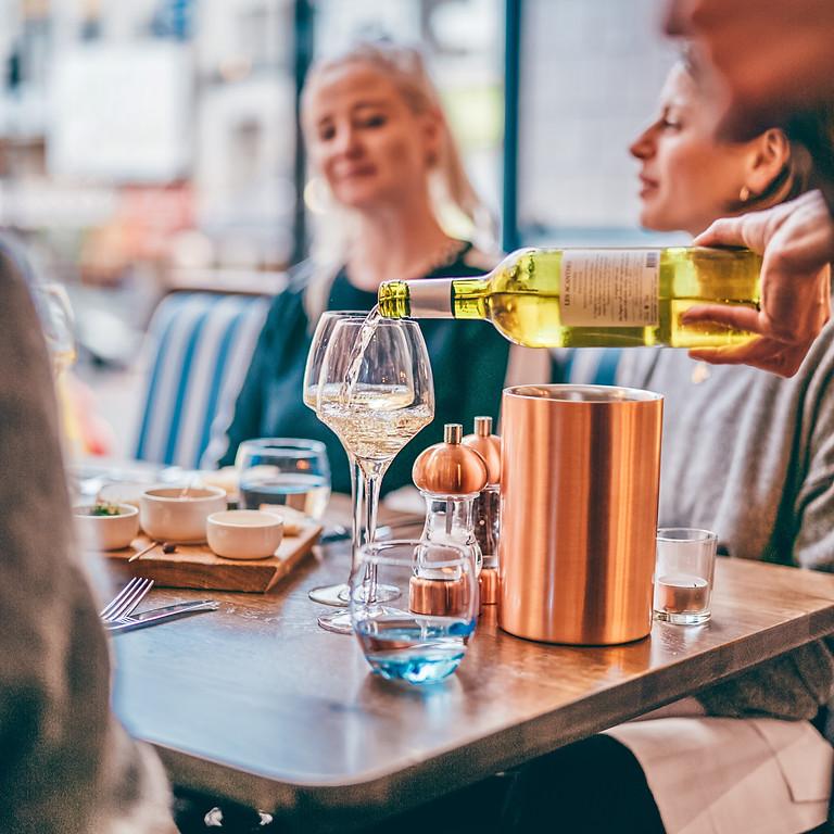 Cornish wine and seafood dinner