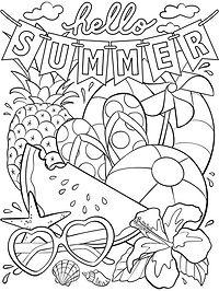 Summer Coloring Page_Artwork_Hello Summe