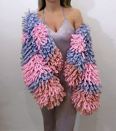 """The """"Cotton Candy"""" Loop Cardi"""