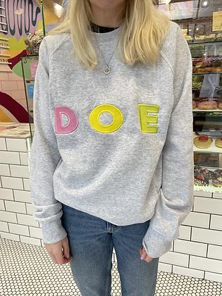 'DOE' 'NUT' Embroidered Jumper
