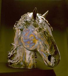 Fresian Horse Head