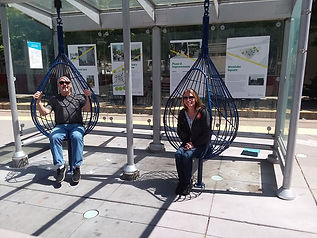 Two chairs for Seattle Downtown Park