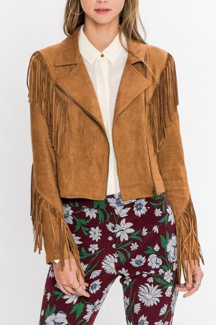 Revival Fringe Vegan Suede Jacket