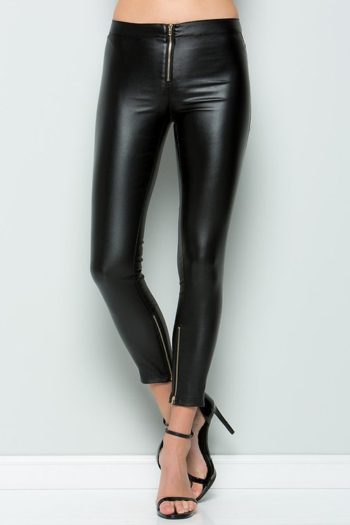 ELLE ZIPPER LEGGING PANTS