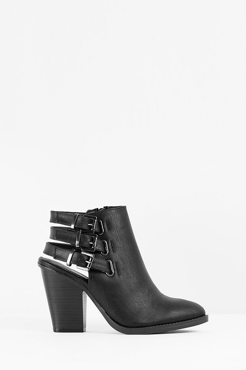 Dominic Black Ankle Booties