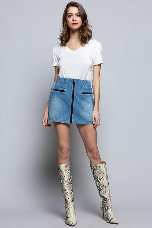 Tai Denim Mini Skirt