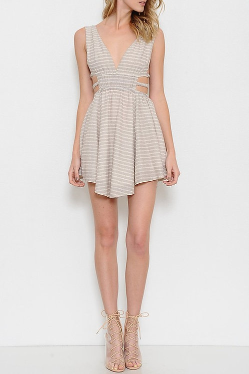 Latiste Trapeze Side Cut-Out Mini Dress