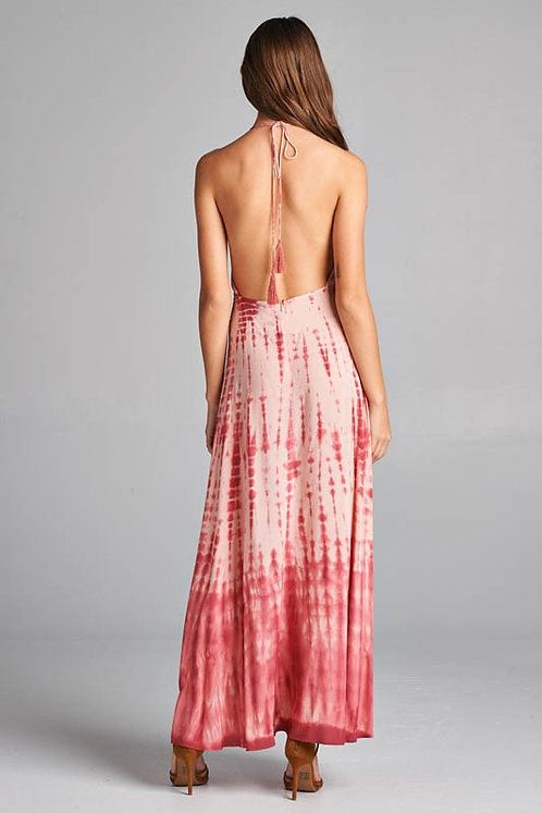 ROSELYN IVORY MULTI TIE DYE MAXI DRESS