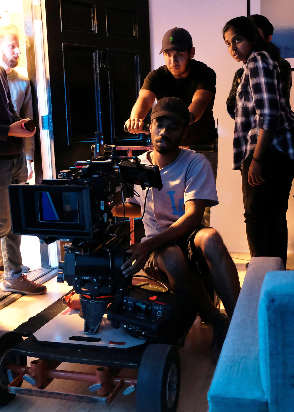 Reddy on the set of Moth